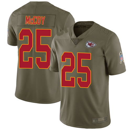 Nike Chiefs #25 LeSean McCoy Olive Youth Stitched NFL Limited 2017 Salute to Service Jersey