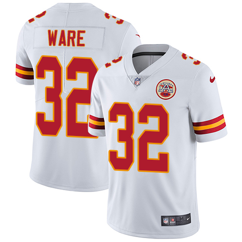 Nike Chiefs #32 Spencer Ware White Youth Stitched NFL Vapor Untouchable Limited Jersey