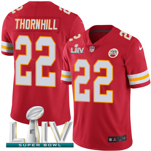 Nike Chiefs #22 Juan Thornhill Red Super Bowl LIV 2020 Team Color Youth Stitched NFL Vapor Untouchable Limited Jersey