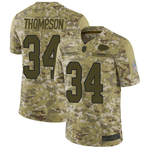 Nike Chiefs #34 Darwin Thompson Camo Youth Stitched NFL Limited 2018 Salute to Service Jersey