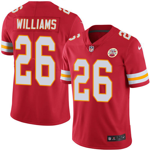 Nike Chiefs #26 Damien Williams Red Team Color Youth Stitched NFL Vapor Untouchable Limited Jersey