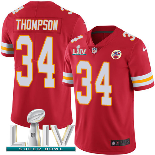 Nike Chiefs #34 Darwin Thompson Red Super Bowl LIV 2020 Team Color Youth Stitched NFL Vapor Untouchable Limited Jersey