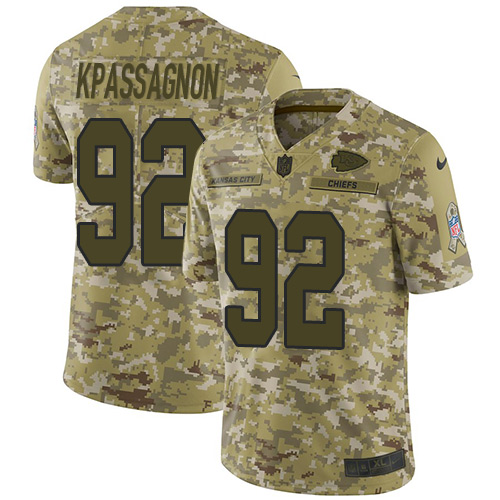 Nike Chiefs #92 Tanoh Kpassagnon Camo Youth Stitched NFL Limited 2018 Salute to Service Jersey