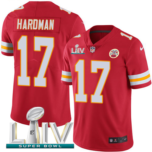 Nike Chiefs #17 Mecole Hardman Red Super Bowl LIV 2020 Team Color Youth Stitched NFL Vapor Untouchable Limited Jersey