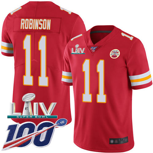 Nike Chiefs #11 Demarcus Robinson Red Super Bowl LIV 2020 Team Color Youth Stitched NFL Vapor Untouchable Limited Jersey