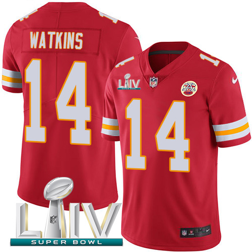Nike Chiefs #14 Sammy Watkins Red Super Bowl LIV 2020 Team Color Youth Stitched NFL Vapor Untouchable Limited Jersey