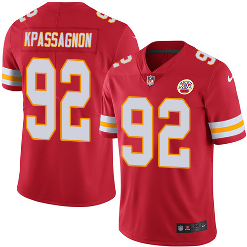 Nike Chiefs #92 Tanoh Kpassagnon Red Team Color Youth Stitched NFL Vapor Untouchable Limited Jersey