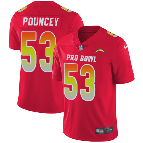 Nike Chargers #53 Mike Pouncey Red Youth Stitched NFL Limited AFC 2019 Pro Bowl Jersey
