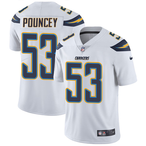 Nike Chargers #53 Mike Pouncey White Youth Stitched NFL Vapor Untouchable Limited Jersey