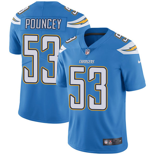 Nike Chargers #53 Mike Pouncey Electric Blue Alternate Youth Stitched NFL Vapor Untouchable Limited Jersey