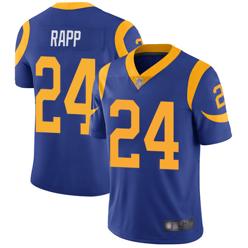Nike Rams #24 Taylor Rapp Royal Blue Alternate Youth Stitched NFL Vapor Untouchable Limited Jersey