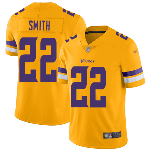 Nike Vikings #22 Harrison Smith Gold Youth Stitched NFL Limited Inverted Legend Jersey