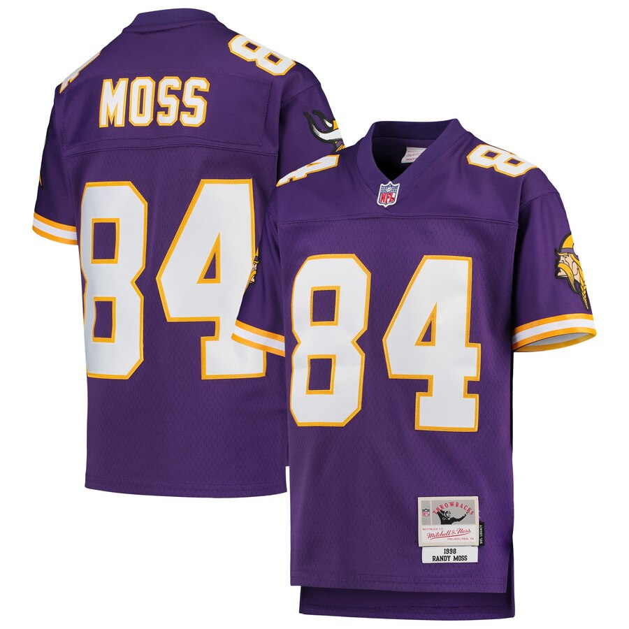Youth Minnesota Vikings #84 Randy Moss Mitchell & Ness Purple 1998 Legacy Retired Player Jersey