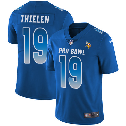 Nike Vikings #19 Adam Thielen Royal Youth Stitched NFL Limited NFC 2019 Pro Bowl Jersey