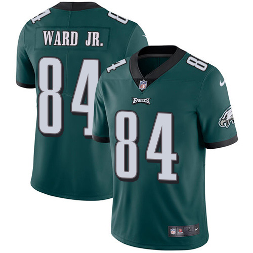 Nike Eagles #84 Greg Ward Jr. Green Team Color Youth Stitched NFL Vapor Untouchable Limited Jersey