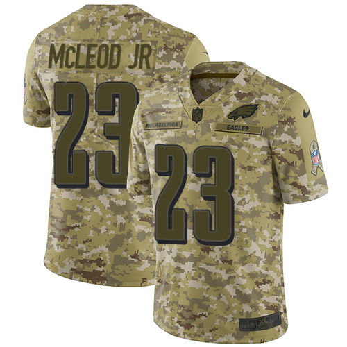 Nike Eagles #23 Rodney McLeod Jr Camo Youth Stitched NFL Limited 2018 Salute to Service Jersey