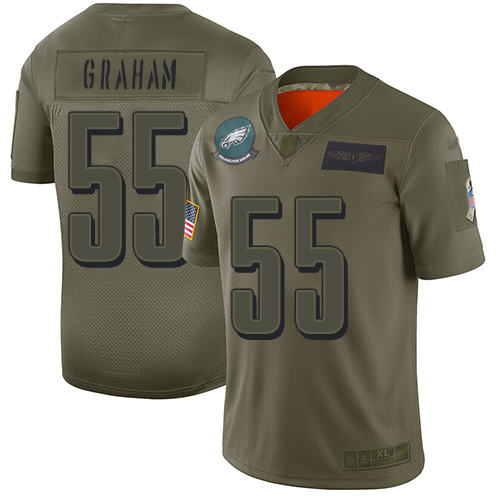 Nike Eagles #55 Brandon Graham Camo Youth Stitched NFL Limited 2019 Salute to Service Jersey