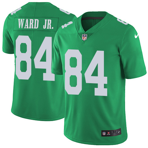 Nike Eagles #84 Greg Ward Jr. Green Youth Stitched NFL Limited Rush Jersey