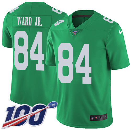 Nike Eagles #84 Greg Ward Jr. Green Youth Stitched NFL Limited Rush 100th Season Jersey