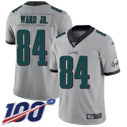 Nike Eagles #84 Greg Ward Jr. Silver Youth Stitched NFL Limited Inverted Legend 100th Season Jersey