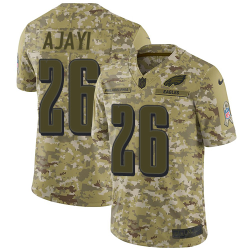 Nike Eagles #26 Jay Ajayi Camo Youth Stitched NFL Limited 2018 Salute to Service Jersey