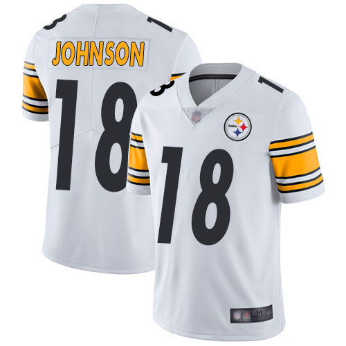 Nike Steelers #18 Diontae Johnson White Youth Stitched NFL Vapor Untouchable Limited Jersey