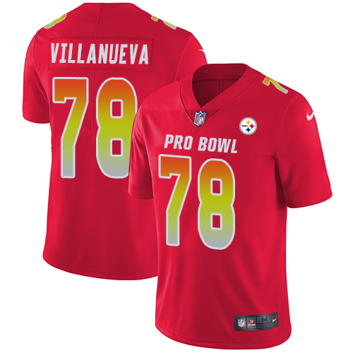 Nike Steelers #78 Alejandro Villanueva Red Youth Stitched NFL Limited AFC 2019 Pro Bowl Jersey