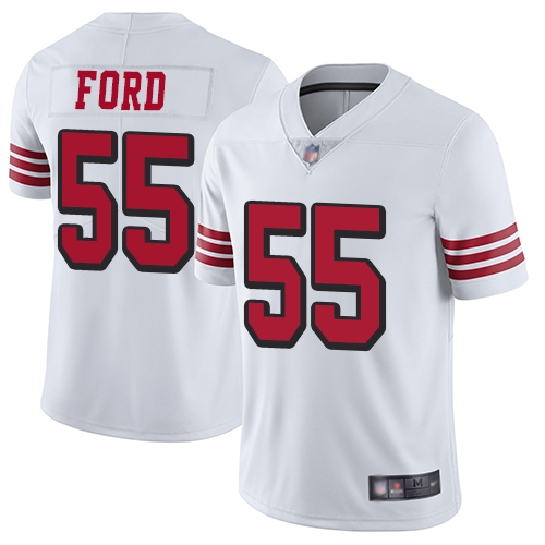 Nike 49ers #55 Dee Ford White Rush Youth Stitched NFL Vapor Untouchable Limited Jersey