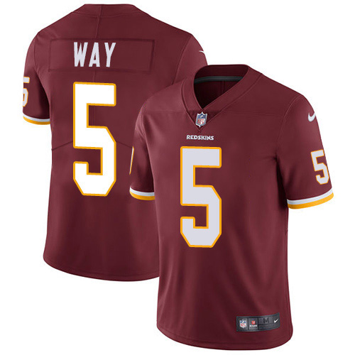 Nike Redskins #5 Tress Way Burgundy Team Color Youth Stitched NFL Vapor Untouchable Limited Jersey