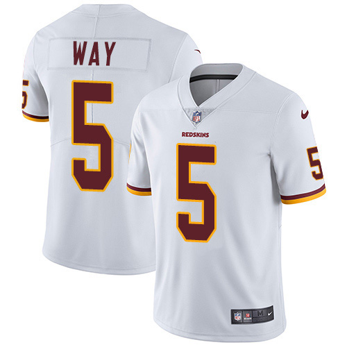 Nike Redskins #5 Tress Way White Youth Stitched NFL Vapor Untouchable Limited Jersey