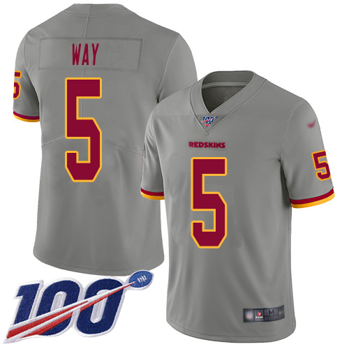 Nike Redskins #5 Tress Way Gray Youth Stitched NFL Limited Inverted Legend 100th Season Jersey