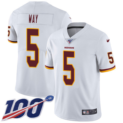 Nike Redskins #5 Tress Way White Youth Stitched NFL 100th Season Vapor Untouchable Limited Jersey