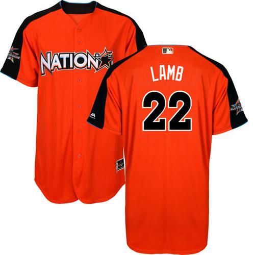 Diamondbacks #22 Jake Lamb Orange 2017 All-Star National League Stitched Youth MLB Jersey