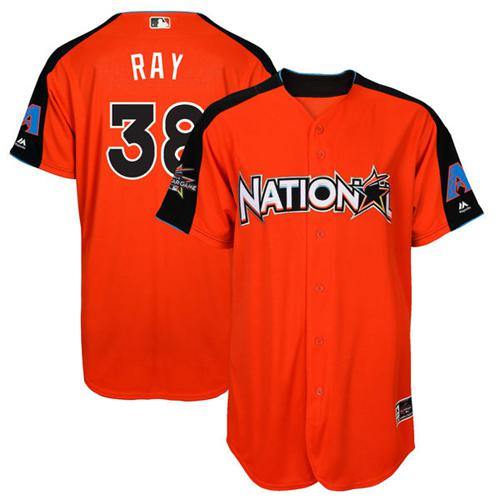 Diamondbacks #38 Robbie Ray Orange 2017 All-Star National League Stitched Youth MLB Jersey