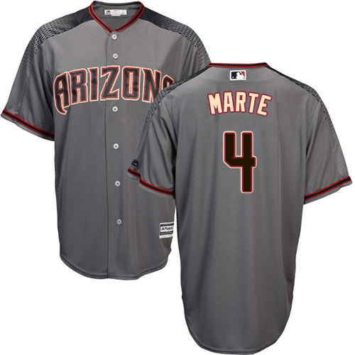 Diamondbacks #4 Ketel Marte Gray Road Stitched Youth MLB Jersey