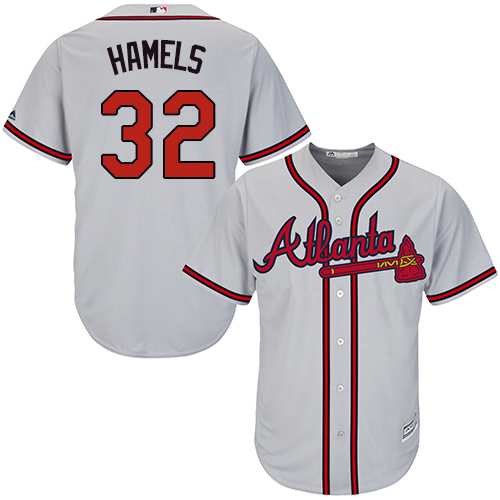 Braves #32 Cole Hamels Grey New Cool Base Stitched Youth MLB Jersey