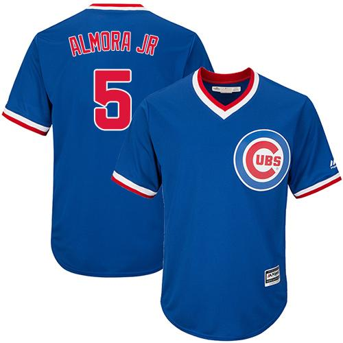 Cubs #5 Albert Almora Jr. Blue Cooperstown Stitched Youth MLB Jersey
