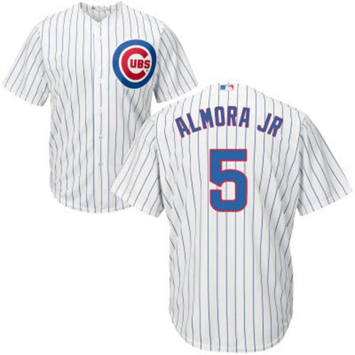 Cubs #5 Albert Almora Jr. White Home Stitched Youth MLB Jersey