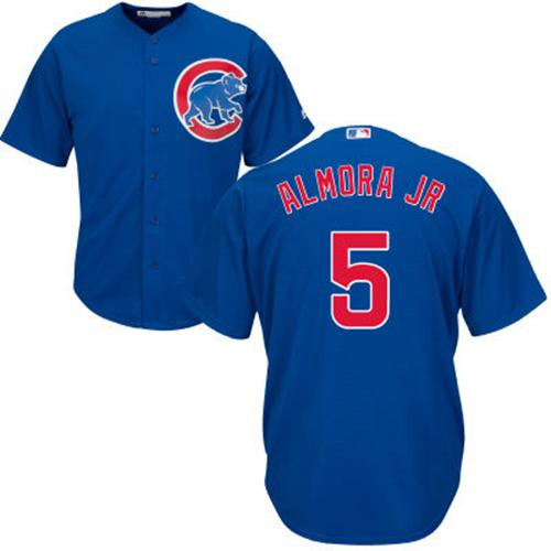 Cubs #5 Albert Almora Jr. Blue Alternate Stitched Youth MLB Jersey
