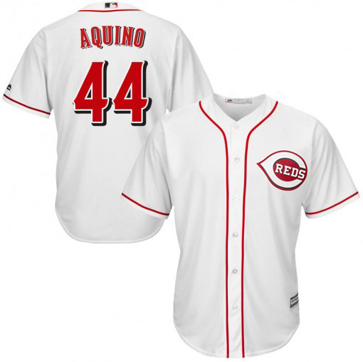 Reds #44 Aristides Aquino White Cool Base Stitched Youth MLB Jersey