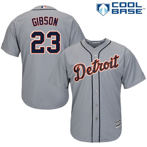 Tigers #23 Kirk Gibson Grey Cool Base Stitched Youth MLB Jersey