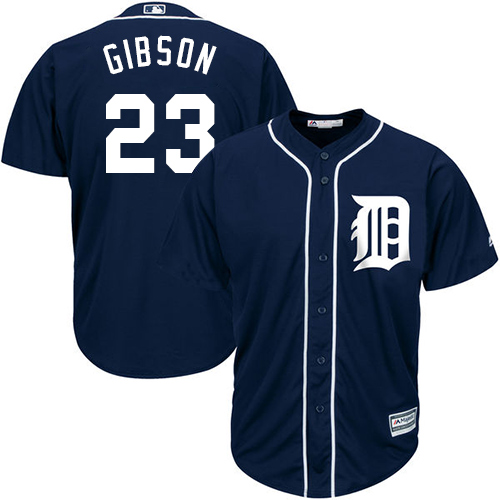 Tigers #23 Kirk Gibson Navy Blue Cool Base Stitched Youth MLB Jersey