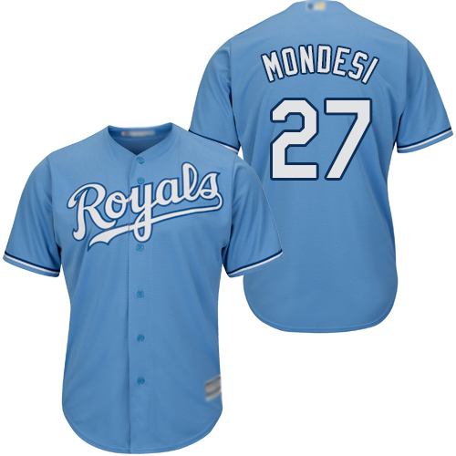 Royals #27 Raul Mondesi Light Blue Cool Base Stitched Youth MLB Jersey