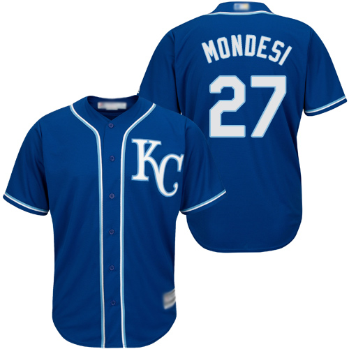 Royals #27 Raul Mondesi Blue Cool Base Stitched Youth MLB Jersey