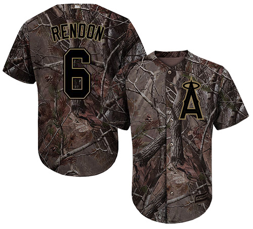 Angels #6 Anthony Rendon Camo Realtree Collection Cool Base Stitched Youth MLB Jersey