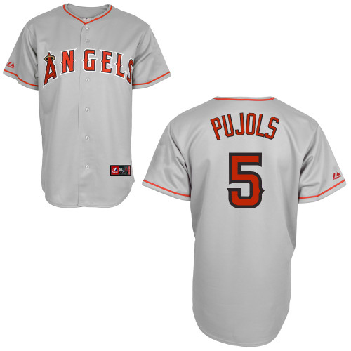Angels #5 Albert Pujols Grey Stitched Youth MLB Jersey