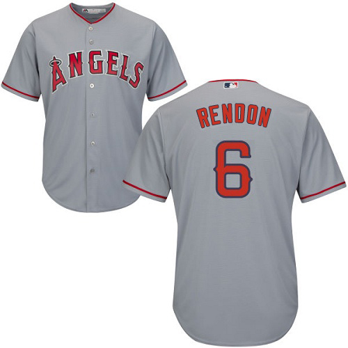 Angels #6 Anthony Rendon Grey Cool Base Stitched Youth MLB Jersey
