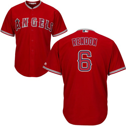 Angels #6 Anthony Rendon Red Cool Base Stitched Youth MLB Jersey