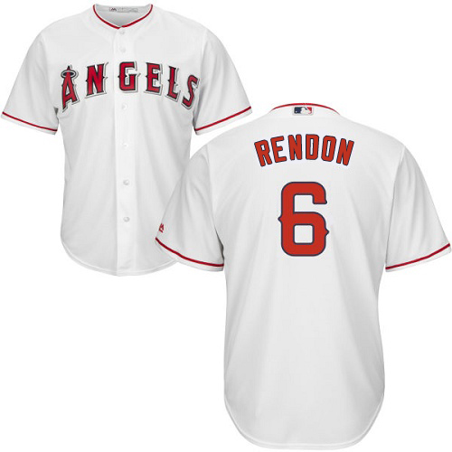 Angels #6 Anthony Rendon White Cool Base Stitched Youth MLB Jersey