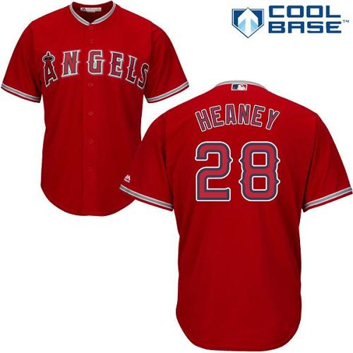 Angels #28 Andrew Heaney Red Cool Base Stitched Youth MLB Jersey